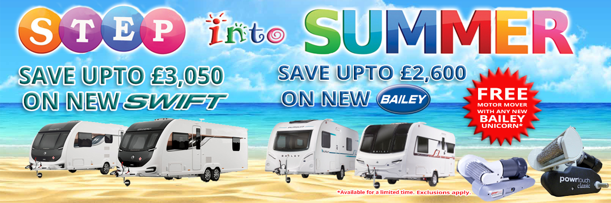 CARAVANS OFFERS 2 NEW