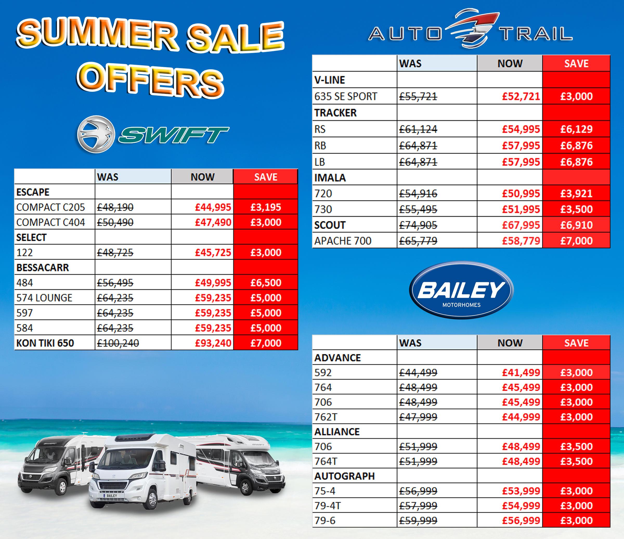 Clearance2018 motorhomes NEW SUMMER2