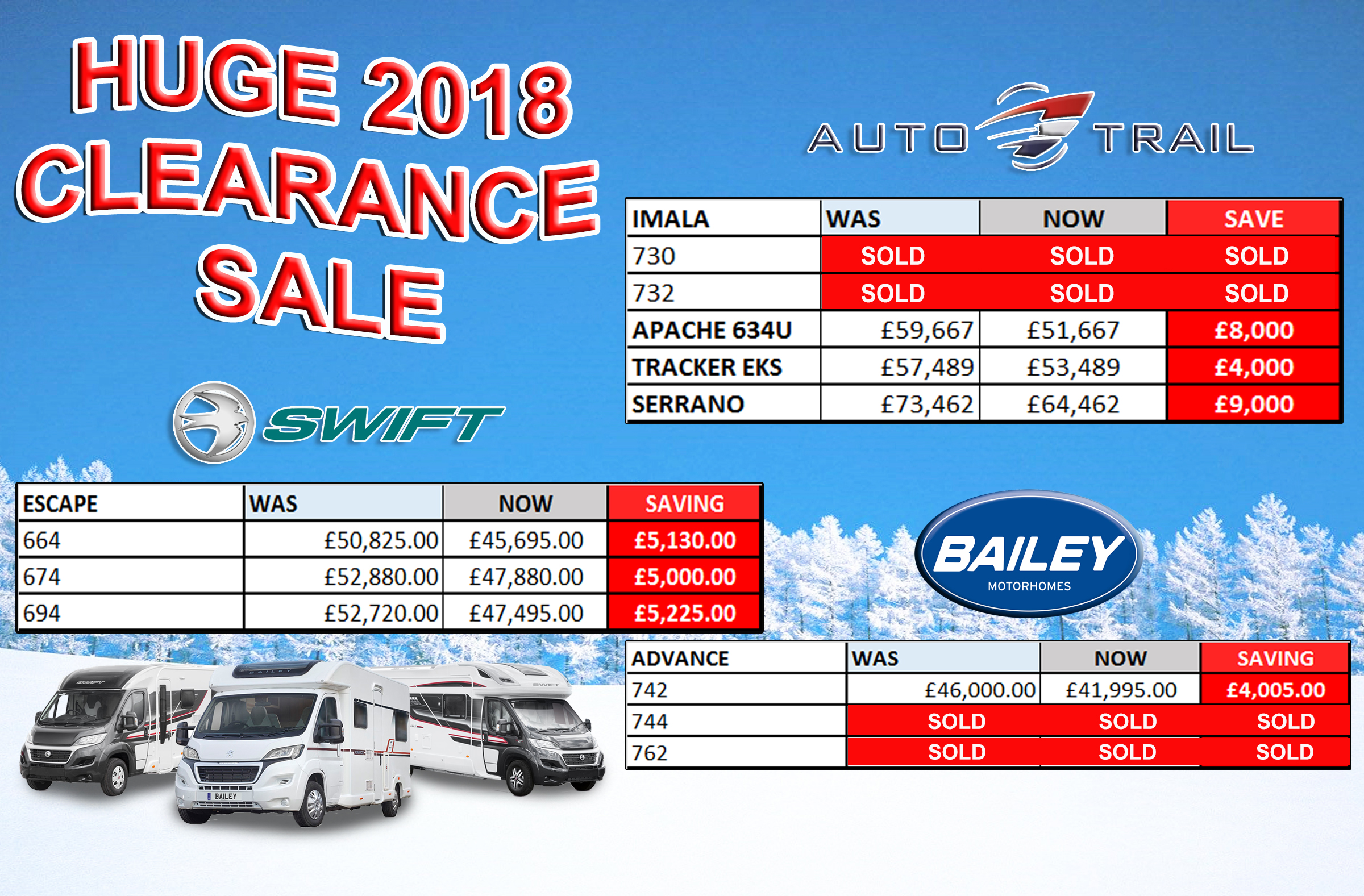 Clearance2018 motorhomes UPDATE3