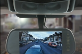 Colour reversing camera integrated into colour touch screen display