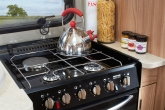 pegasus dual fuel hob with electric hotplate and 3 gas burners9