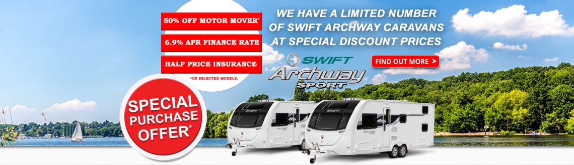 Swift Archway Caravans | White Arches