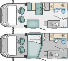 Swift Escape 604 floorplan